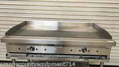 New 48 Thermostatic 4 Griddle Flat Top Grill Gas Stratus Stg-48 5828 Commercial