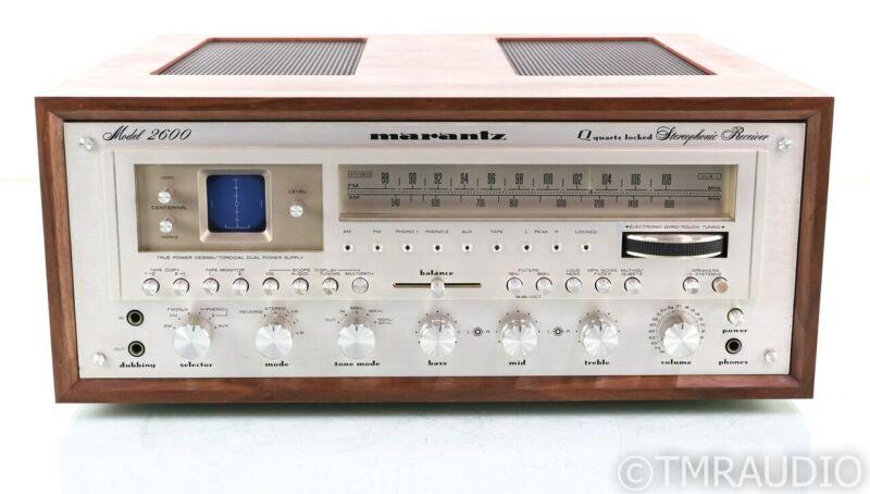 Marantz Model 2600 Vintage Stereo AM / FM Receiver; Custom Cabinet; Restored