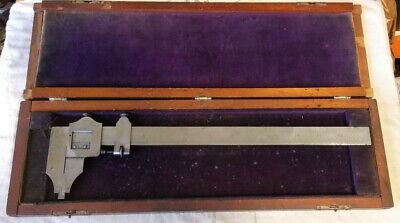 Vintage 12 Inch Machinist Inside Outside Vernier Caliper Tool 11000