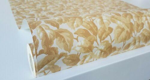 Golden Decorative Leaves Wallpaper by Eisenhart Wallcoverings Co.