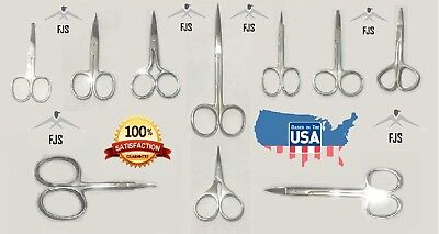 Stainless Nail Scissors - Eyebrows Mustache Nose Hair Scissors Nail Trimmer Stainless Steel NEW