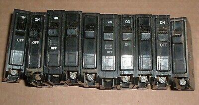 Lot Of 10 Square D Type Qo 15 A Amp Single Pole Circuit Breaker