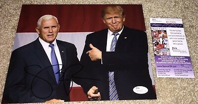 Vice President Mike Pence Signed 8X10 Photo Vp Donald Trump Maga Usa Jsa B