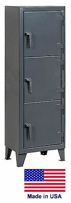 Personnel - Personal Locker Coml Industrial - 3 Lockers - 68 H X 18 D X 22 W