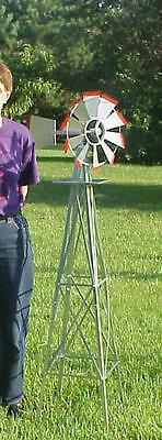 Miniature 4 Ft Windmill (american Farm Style) 4 Ft Miniature Steel Wm-34