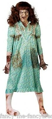 Possessed Baby Halloween Costume (Mens Ladies Possessed Girl Child Exorcist Halloween Fancy Dress Costume)