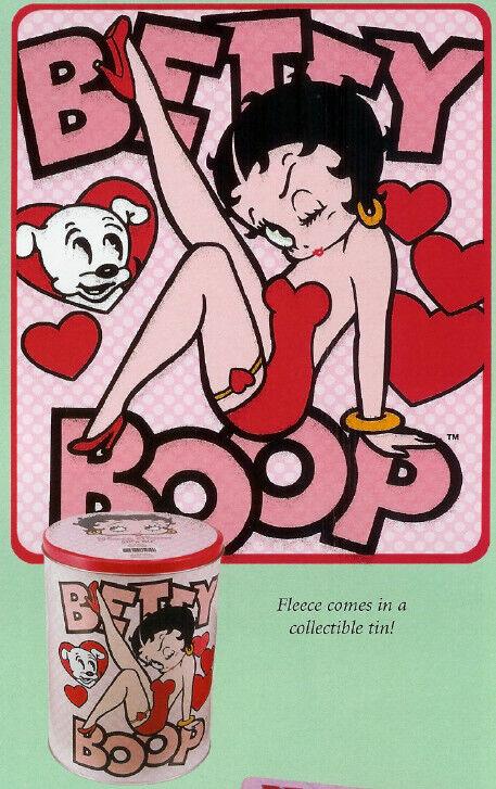 Betty Boop Fleece Throw in Decorative Tin MIP