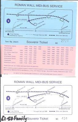 Hadrian's Wall bus Northumberland Tyne Valley Roman Hexham Rochester & Marshall