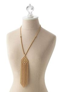 Stella and Dot MaKena Necklace, gold colour