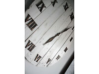 Pallet wood wall clock Art Industrial Vintage Rustic Retro Shabby Chic