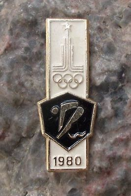 Olympic Diving Board - 1980 Moscow Russia Summer Olympics Games Board Diving Olympic Event Pin Badge