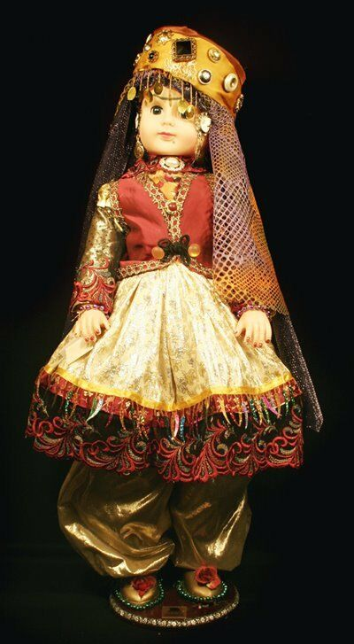 Large 32 inches rare collector Persian Kuridsh Doll