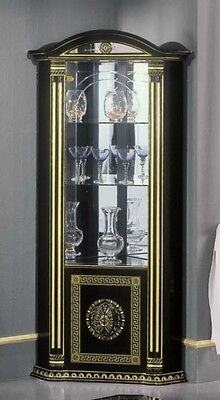 The Versace Design Italian Rossella Black/Gold Corner Unit Luxury