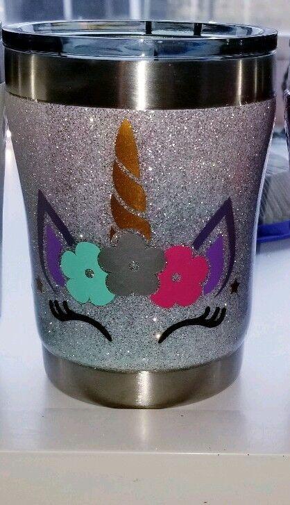 UNICORN glitter Tumbler Handmade! Add YOUR name!!