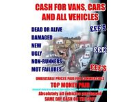 Scrap cars wanted with or without wheels