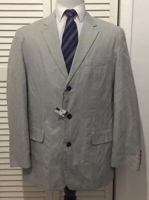 NWT Structure Men's Sports Coat Gray Striped Size Large 41-43