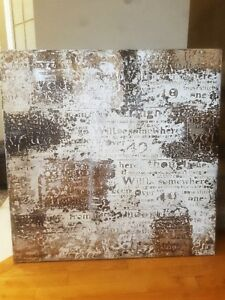 Letters Canvas Painting