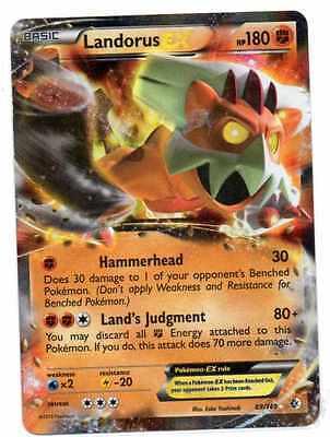 pokemon LANDORUS EX  180 HP 89/149 B&W 7  BOUNDARIES CROSSED