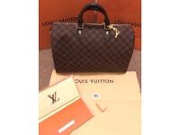 Authentic Louis Vuitton Speedy 35 Bandouliere Damier