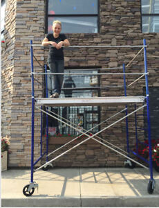 "5' Scaffold Tower with 5' x 5' Frames & 7' x 19"" Platform"