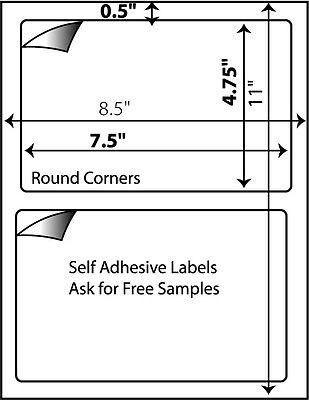 UPS for Paypal 8.5 x 5 inches 1200 Self Adhesive Half Sheet Labels