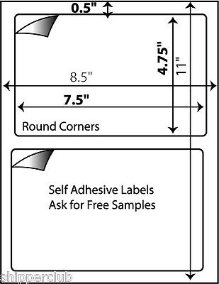 2000 Shipping Labels Self Adhesive For Paypal Usps 7-38 X 4.5 Great For 000