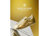 ADIDAS ORIGINALS SUPERSTAR 80S METALLIC GOLD [SIZES 12 UK] LIMITED EDITION S82742