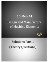 Mec-A4 Design and Manufacture of Machine Elements Exam Solutions