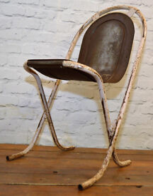 10 available Sebel Stak-a-Bye industrial metal chairs vintage stacking retro kitchen garden