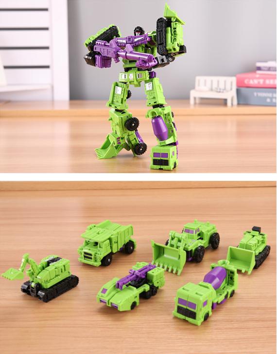 Transformers Devastator 6in1 GT Model BHX Mini Engineering Vehicle Fitted 21CM