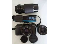 Minolta X-300s with lenses