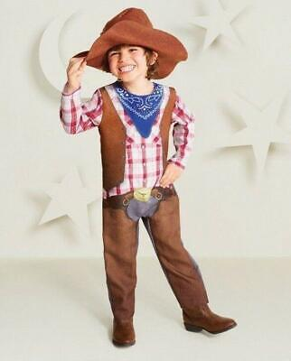 Hyde and Eek Cowboy Toddler Halloween Costume Jumpsuit and Hat - 2t Cowboy Kostüm