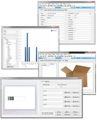 Office Factory Shop Business Asset Inventory Tracking Windows Database Software
