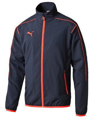 Mens New PUMA Woven Jacket Tracksuit Top Windbreaker Coat - Navy Blue