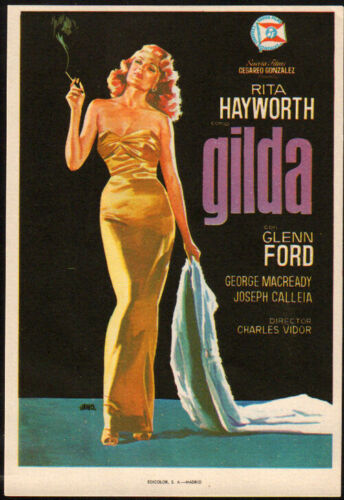 Gilda Original Spanish Movie Herald 1946  Rita Hayworth