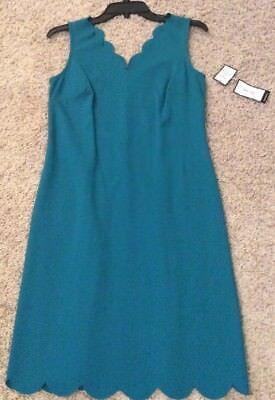 Nine West Turquoise V-Neck Sleeveless Dress Size 2 Nwt