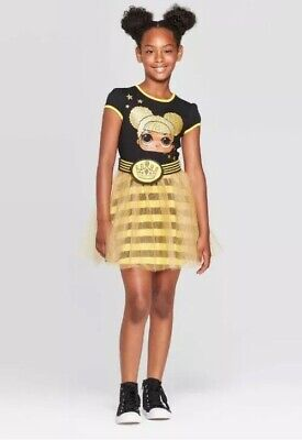 Queen Bee Outfit (LOL Surprise Girls Queen Bee Outfit Clothes Dress w/ Coin Purse Belt XS S M L)