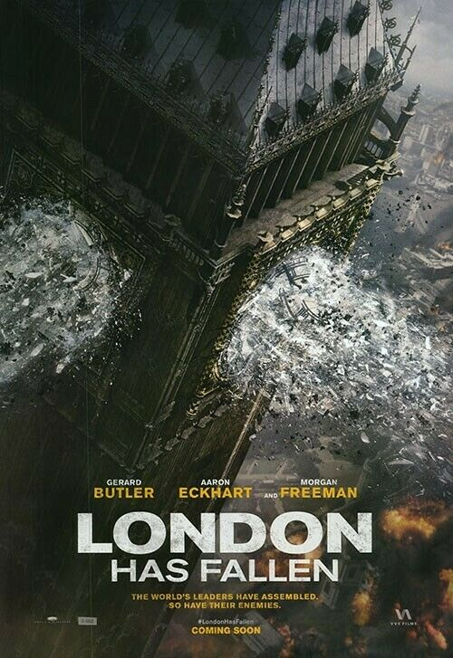 London Has Fallen Iinternational 27x39 Orginal S/S Movie POSTER