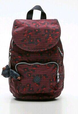 NEW Kipling CAMPANA Small Backpack Rucksack  STRIPY FLORAL Print RRP £74