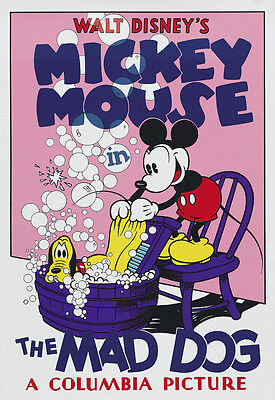 The Mad Dog (1932) Mickey mouse Pluto Disney cartoon movie poster print 2 - Mickey Mouse Poster