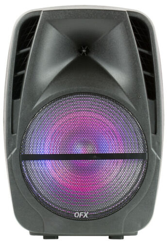 "QFX 12"" Portable Rechargeable Bluetooth Party Speaker with Microphone & Remote"