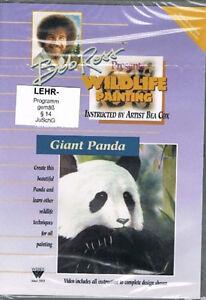 Tiermalerei-BOB-ROSS-Vida-salvaje-Painting-GIANT-PANDA-Animales-Osos-DVD-nuevo