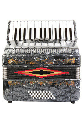 Rossetti Piano Accordion 32 Bass 30 Piano Keys 3 Switches Grey