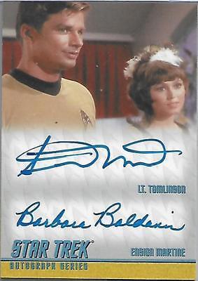 Star Trek The Remastered Original Series Dual Autograph Card DA12 Limited