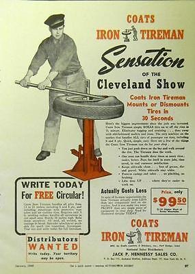 antique coats ironman tire machine   sale  west bridgewater massachusetts