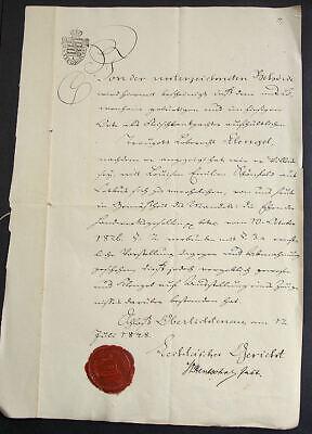 u b. Pulsnitz. Heiratsurkunde. Gerichtssiegel 1848 (Heiratsurkunde)