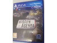 Hidden agenda for PlayStation 4