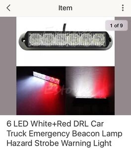 6inch led emergency light Red/white