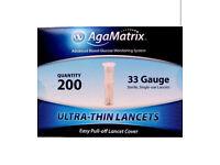 Agamatrix ultra thin lancets 33g