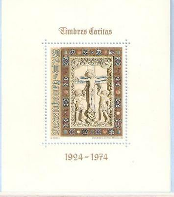 1974   LUXEMBOURG  -  SG  MS 942  -  ANNIVERSARY OF CHRISTMAS STAMPS  -  UMM